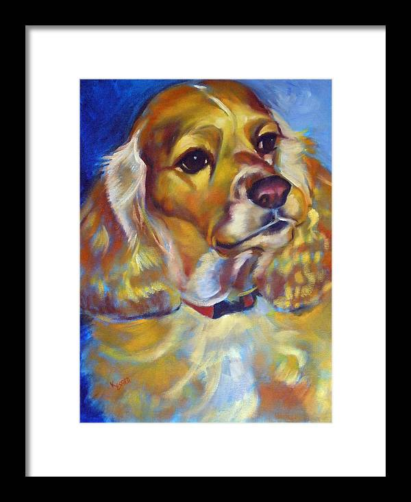 Cocker Spaniel Painting Framed Print featuring the painting Maggie Maye by Kaytee Esser