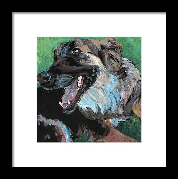 Framed Print featuring the painting Maggie by Rebecca Coatney
