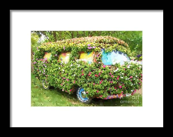 Volkswagen Framed Print featuring the photograph Magic Bus by Debbi Granruth
