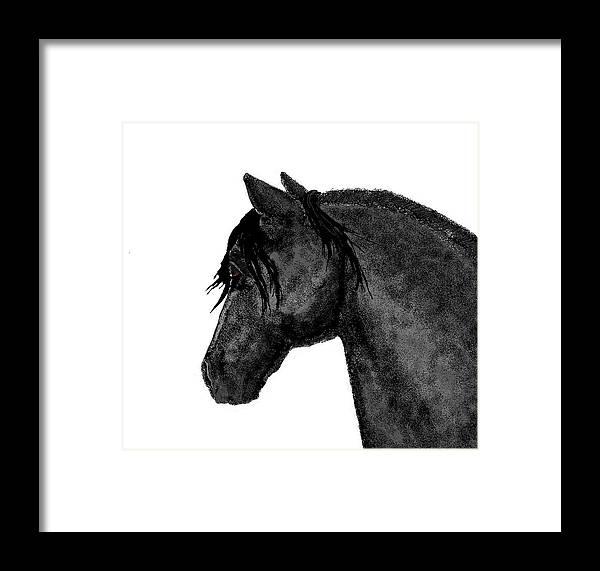 Horses Framed Print featuring the digital art Magic by Carole Boyd