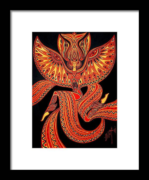 Inga Vereshchagina Framed Print featuring the painting Magic Dance by Inga Vereshchagina