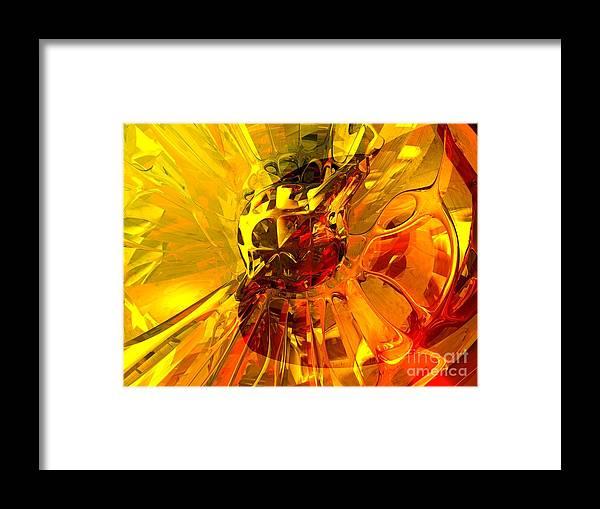 3d Framed Print featuring the digital art Magic Honeycomb Abstract by Alexander Butler
