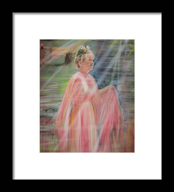 Mother Nature Framed Print featuring the pastel Magic Mother Nature by Larry Whitler