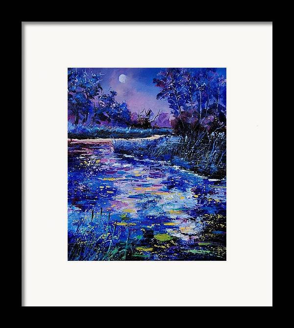 River Framed Print featuring the painting Magic Pond by Pol Ledent