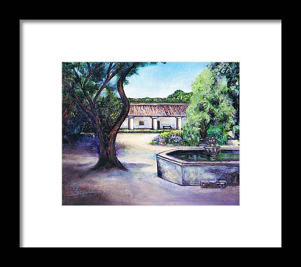 La Purisima Mission Framed Print featuring the painting Magical Mission by M Schaefer