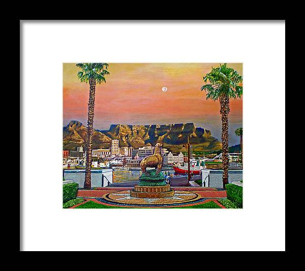 Mountain Framed Print featuring the painting Magical Moment by Michael Durst