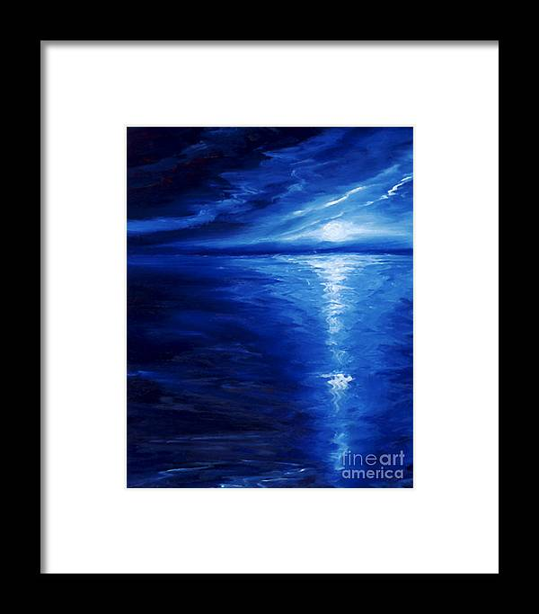 Blue Moon Framed Print featuring the painting Magical Moonlight by James Christopher Hill