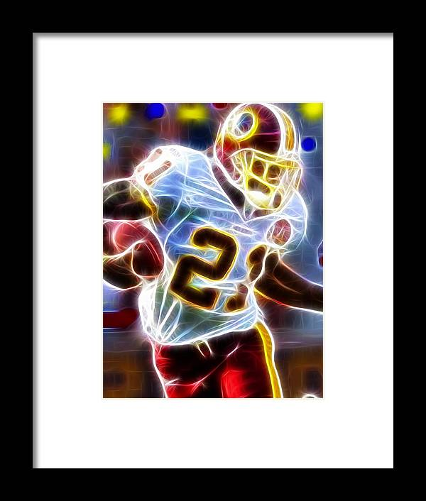 Sean Taylor Framed Print featuring the painting Magical Sean Taylor by Paul Van Scott