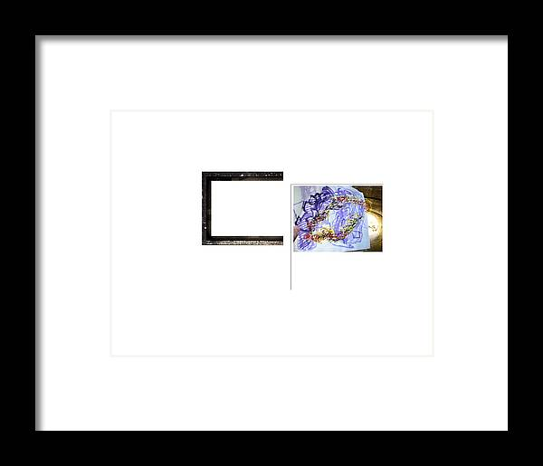 Sculptural Drawing  Abstract Digital Space Framed Print featuring the digital art Magnet by Edwin VanGorder