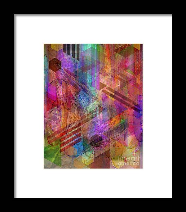 Magnetic Abstraction Framed Print featuring the digital art Magnetic Abstraction by John Beck