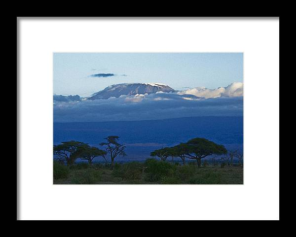 Africa Framed Print featuring the photograph Magnificent Kilimanjaro by Michele Burgess