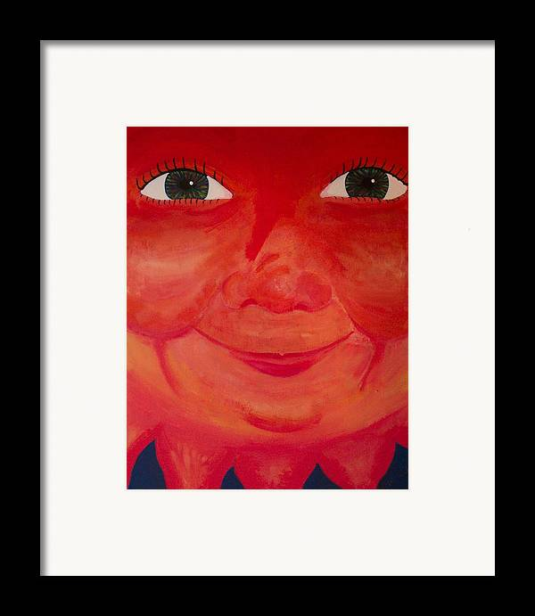 Sun Framed Print featuring the painting Magnificent Sun by Jennifer Hernandez