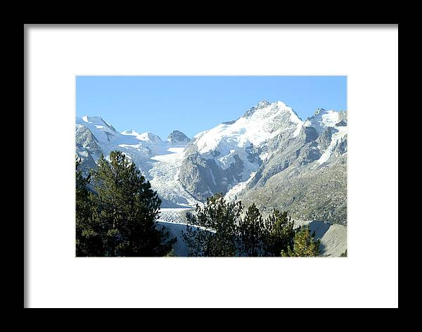 Switzerland Framed Print featuring the photograph Magnificent Swiss Glacier by Charles Ridgway