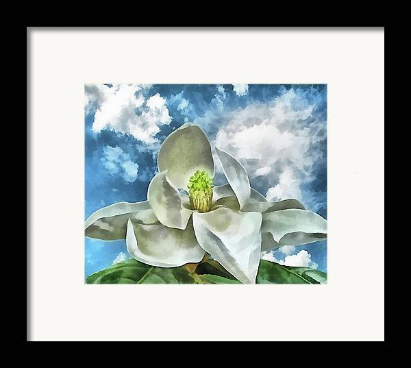 Magnolia Framed Print featuring the digital art Magnolia Dreams by Wendy J St Christopher