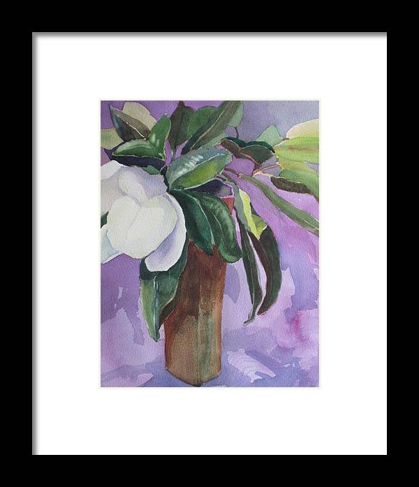 Magnolia Framed Print featuring the painting Magnolia by Elizabeth Carr