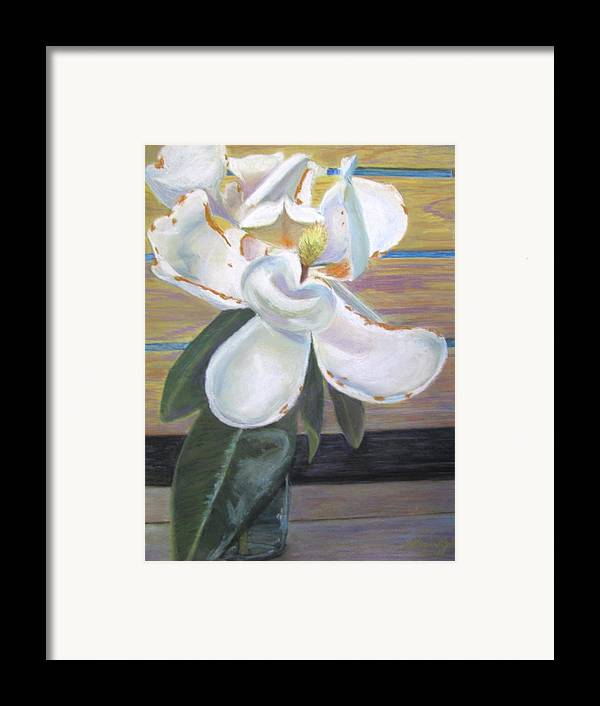 Flowers Framed Print featuring the painting Magnolia by Gloria Byler