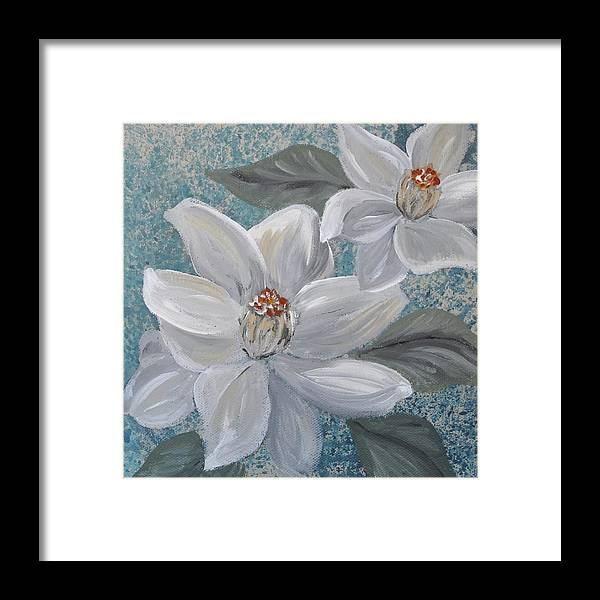 Framed Print featuring the painting Magnolia Melody by Amy Chenoweth