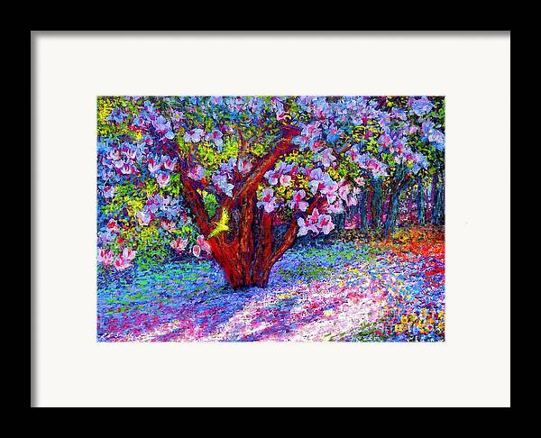 Magnolia Framed Print featuring the painting Magnolia Melody by Jane Small