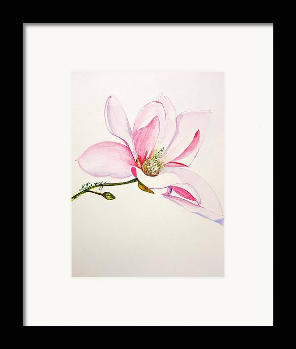 Flower Framed Print featuring the painting Magnolia by Murielle Hebert
