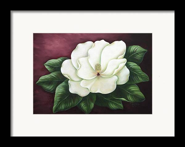 Flower Framed Print featuring the painting Magnolia by Ruth Bares