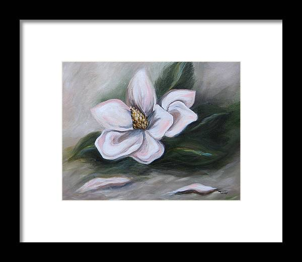 Flower Framed Print featuring the painting Magnolia Two - 2007 by Torrie Smiley