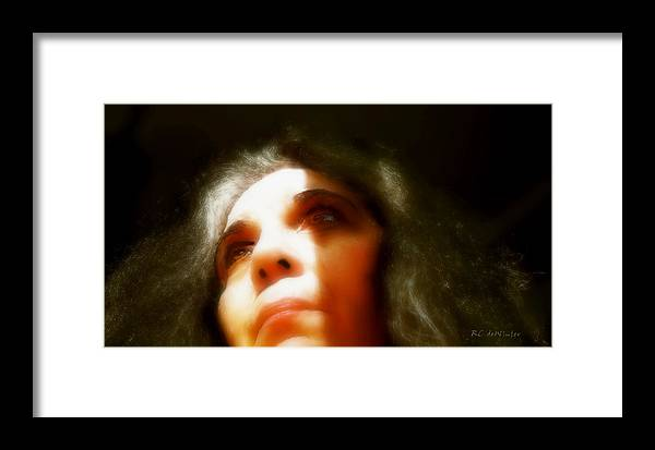 Portrait Framed Print featuring the painting Maid Of Constant Sorrow  Self-portrait by RC DeWinter
