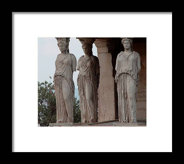 Athens Greece Framed Print featuring the photograph Maidens Of The Porch by Nancy Bradley