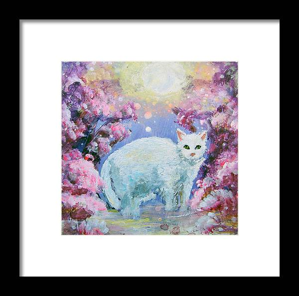 Cat Framed Print featuring the painting Makia by Ashleigh Dyan Bayer