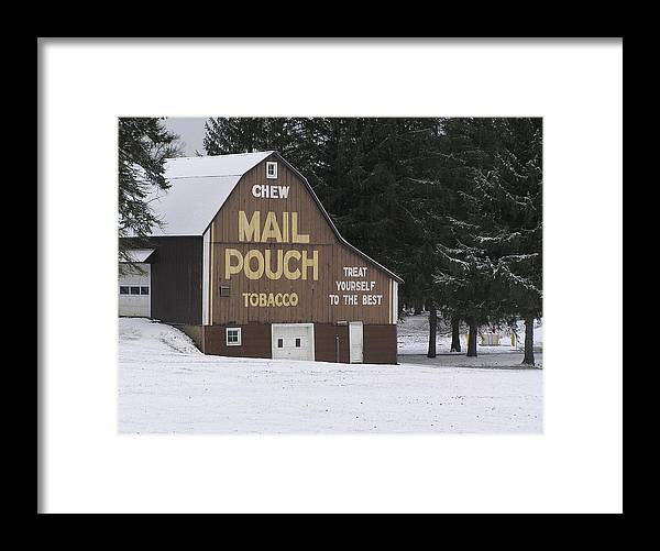 Mail Pouch Framed Print featuring the photograph Mail Pouch Barn by Jeanette Oberholtzer