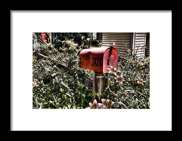 Mailbox Framed Print featuring the photograph Mailbox Deux by Chris Fleming