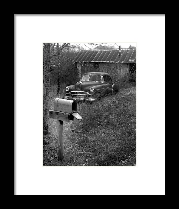 Ansel Adams Framed Print featuring the photograph Mailboxcar by Curtis J Neeley Jr