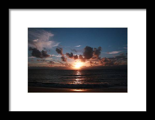 Tropical Sunset Framed Print featuring the photograph Ma'ili Sunset by Jennifer Bright