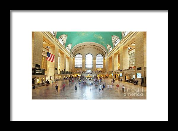 Central Framed Print featuring the photograph Main Hall Grand Central Terminal, New York by Antonio Gravante