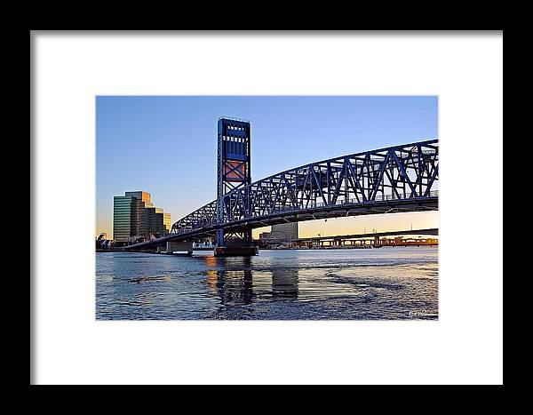 Jacksonville Framed Print featuring the photograph Main Street Bridge At Sunset by Rick Wilkerson