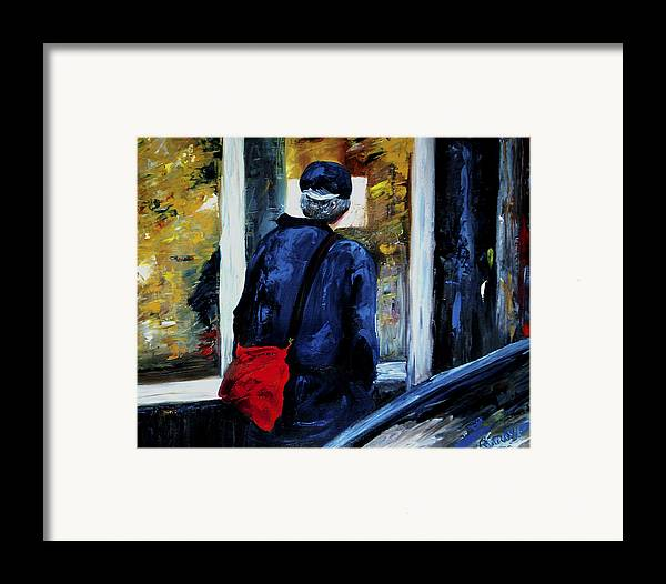 Candid Framed Print featuring the painting Main Street by Linda Carroll