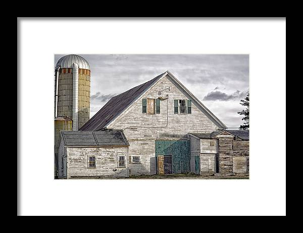 Architecture Framed Print featuring the photograph Maine Farm Barn by Richard Bean