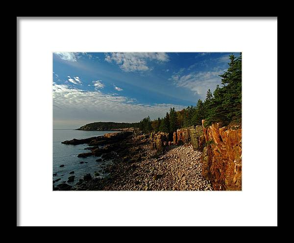 Acadia National Park Framed Print featuring the photograph Maine Rocky Coast by Juergen Roth