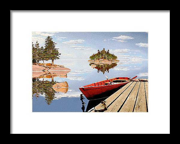 Maine Framed Print featuring the photograph Maine-tage by Peter J Sucy
