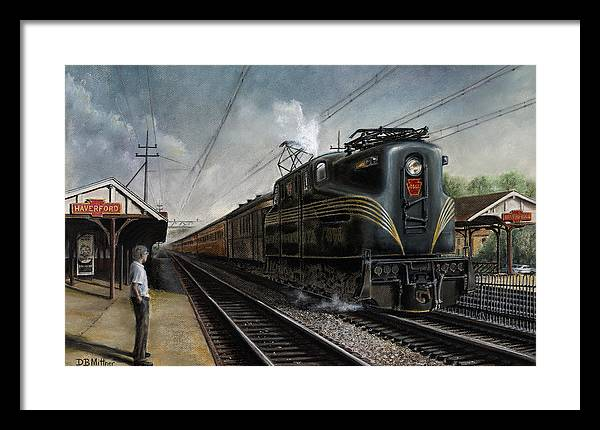 Trains Framed Print featuring the painting Mainline Memories by David Mittner