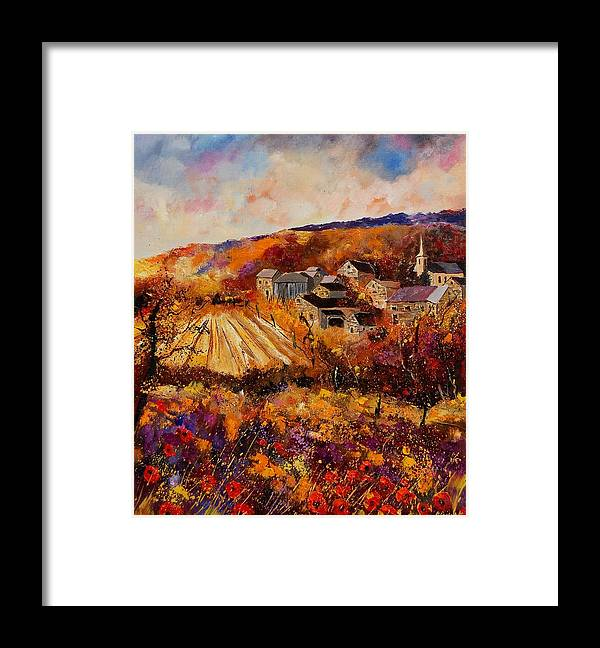 Poppies Framed Print featuring the painting Maissin by Pol Ledent