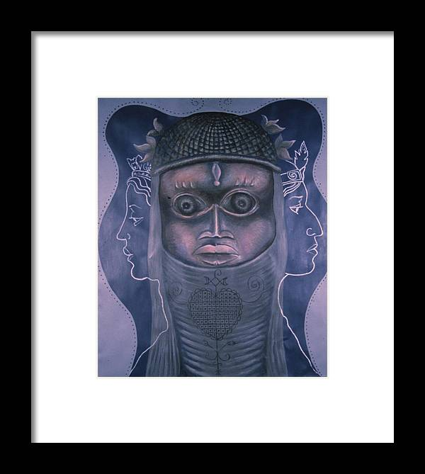 Woman Framed Print featuring the painting Maitresses by Barbara Nesin