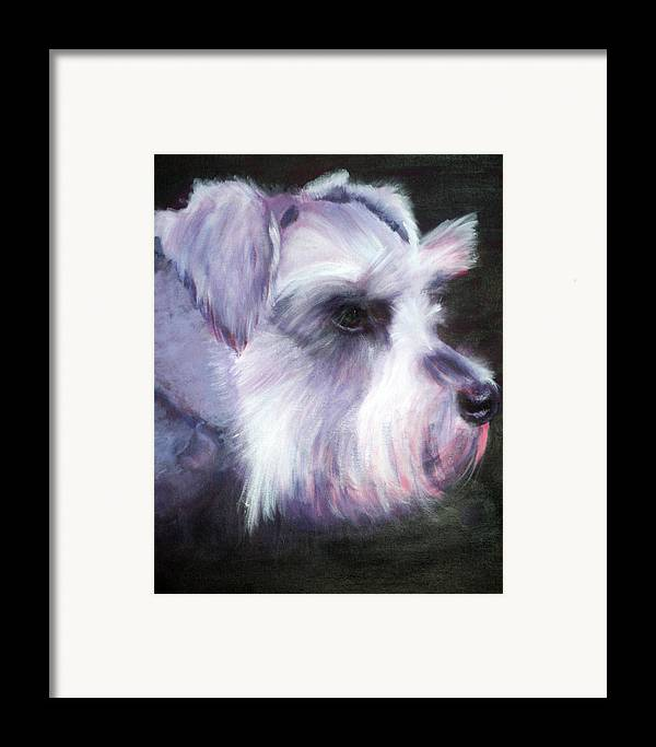 Dog Framed Print featuring the painting Maizee by Fiona Jack