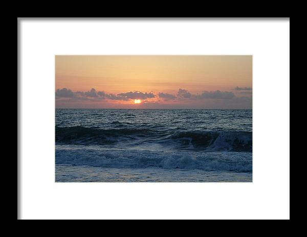 Majestic Framed Print featuring the photograph Majestic Atlantic Sunrise by Stephanie H Johnson