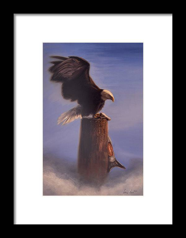 Oil Framed Print featuring the painting Majestic by Greg Neal