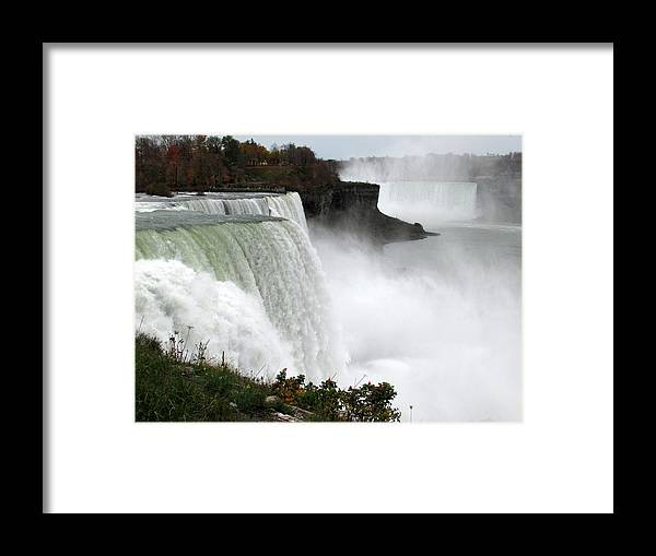 American Falls Framed Print featuring the photograph Majestic by Joni Moseng