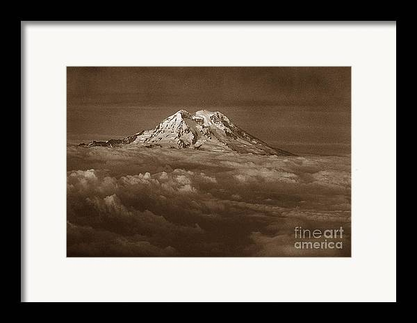 Mountains Framed Print featuring the photograph Majestic Mt. Rainier by Michael Ziegler
