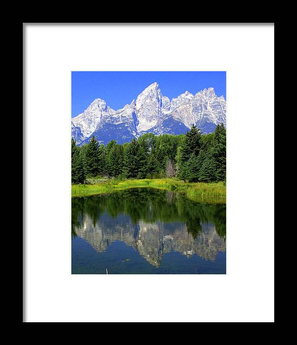 Grand Teton National Park Framed Print featuring the photograph Majestic Tetons by Marty Koch
