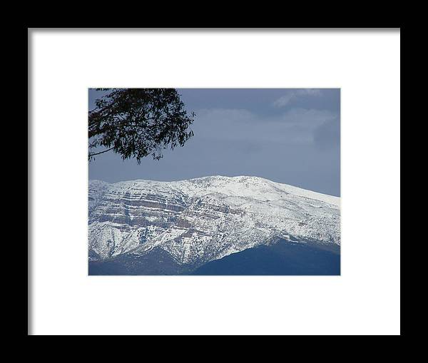 Landscape Framed Print featuring the photograph Majestic Topa Topas by Liz Vernand