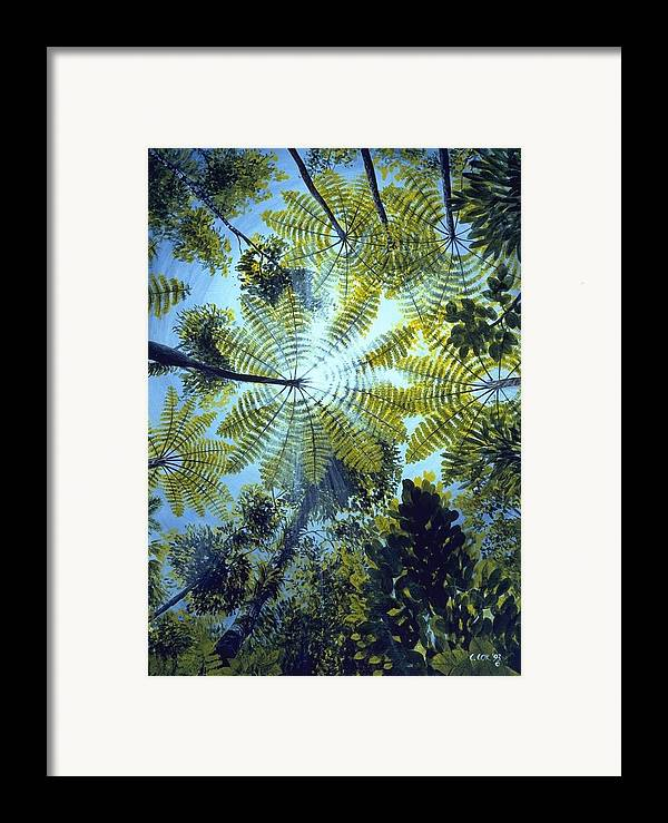 Chris Cox Framed Print featuring the painting Majestic Treeferns by Christopher Cox