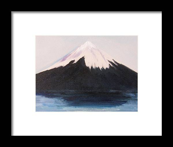 Mountain Framed Print featuring the painting Majestic by Trilby Cole